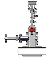 Hot tap machine to the valve